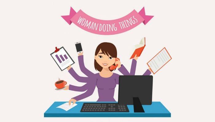 Donna Multitasking
